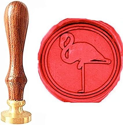 Initials with Flamingo Wedding Wax Seal Stamp  Custom Wax Seal KitCustom Seal StampInvitation seal stamp