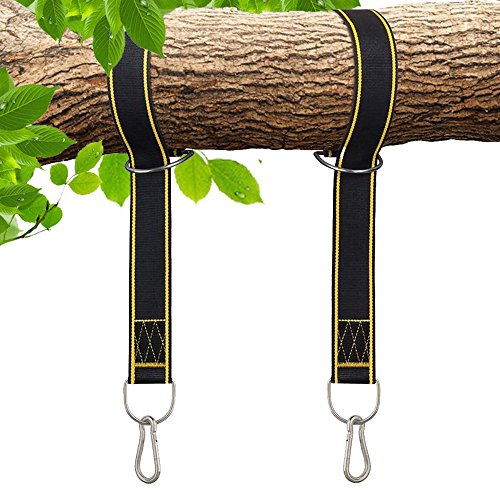 Rhino StrapMate Tree Swing Straps Hanging Kit  Two 4ft Strap, Holds 2800 lbs (SGS Certified), Fast & Easy Way to Hang Any Swing  Outdoor Swing Hangers