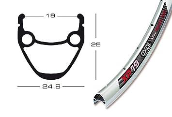 28″ Exal XP 19 Fahrrad Felge Silber matt // 622-19 36 Loch // Ausführung