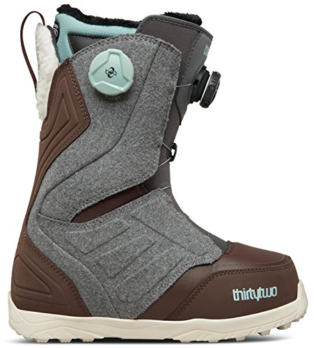 thirtytwo Lashed Double Boa W'S '17 Snowboarding Boot, Grey/Brown, 9.5