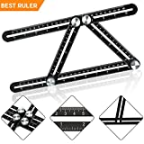 Tools & Hardware : Angle-izer Template Tool,Escolite Multi-angle Premium Aluminum Alloy Precision Measuring Ruler (Black)