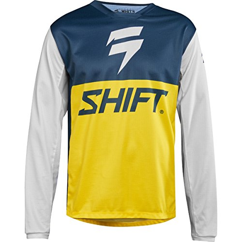 Shift Racing White Label Limited Edition Men's Off-Road Motorcycle Jerseys - X-Large/Navy/Yellow