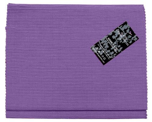 Homescapes Tischläufer lila unifarben 45 x 180 cm aus 100% reiner Baumwolle, Tischtuch waschbar