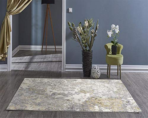 Persian-Rugs 6490 Gray Abstract 8 x 11 Area Rug Carpet Large New
