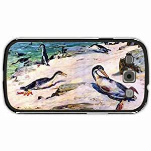 New Style Customized Back Cover Case For Samsung Galaxy S3 Hardshell Case, Black Back Cover Design Hesperornis Personalized Unique Case For Samsung S3