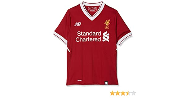 658bbc64 Amazon.com : New Balance Liverpool FC Home Junior SS Jersey [Red Pepper] :  Sports & Outdoors
