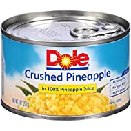 Dole Crushed Pineapple in Juice 8 oz, Pack of 8