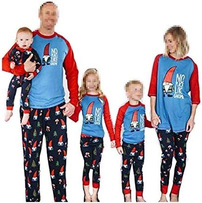 CHRONSTYLE Pijamas Dos Piezas Familiares de Navidad, Conjuntos Navideños de Algodón para Mujeres Hombres Niño Bebé, Ropa para Dormir Verano Otoño Invierno Sudadera Chándal Suéter de Navidad: Amazon.es: Ropa y accesorios