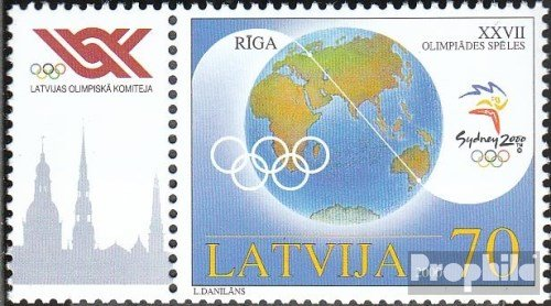 - Latvia 528Zf with zierfeld (Complete.Issue.) 2000 Summer (Stamps for Collectors) Olympic Games