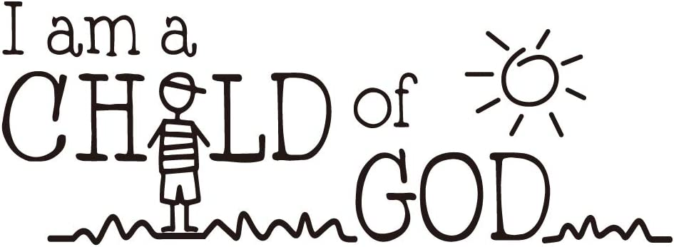 ZSSZ I am a Child of GOD Art Letters Vinyl Wall Decal Christian Quotes Home Décor Motto for Kids Room