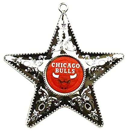Amazon.com   NBA Chicago Bulls Silver Star Ornament 8aa8006c2