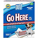OUT! Go Here Dog Training Pads (Pack of 100)
