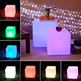 LOFTEK®Outdoor/Indoor Rechargeable LED Light, Cordless with Remote Control RGB Color Changing. (Cube 16)
