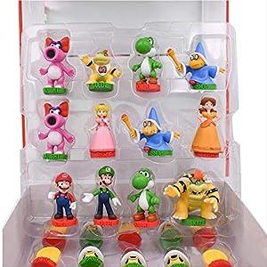 32 Pcs/set Anime Super Mario Chess Figure Bros Luigi Princess Pvc Action Doll Collectible Pvc Toy Model Baby Toy 4-7cm
