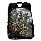 Motocross Sport Motorcycle Vehicle School Backpack Children Shoulder Daypack Kid