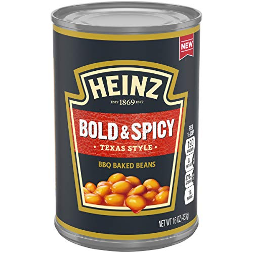- Heinz Texas Style Bold & Spicy BBQ Baked Beans, 16 oz Can