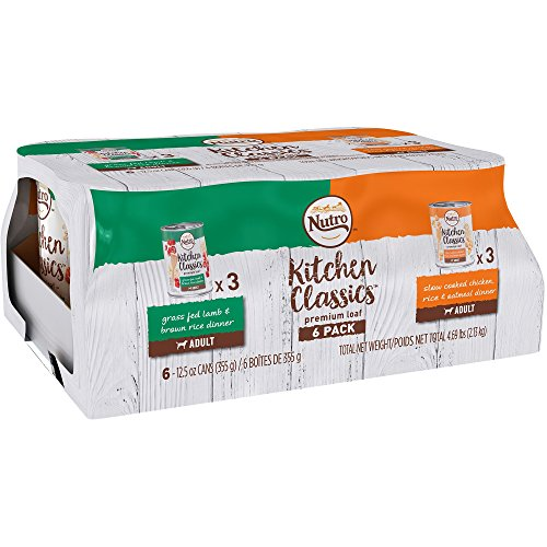 Nutro Kitchen Classics Premium Loaf Variety Pack: Grass Fed Lamb & Brown Rice Dinner And Slow Cooked Chicken, Rice & Oatmeal Dinner Canned Dog Food 12.5 Ounces (Pack Of 6) Review
