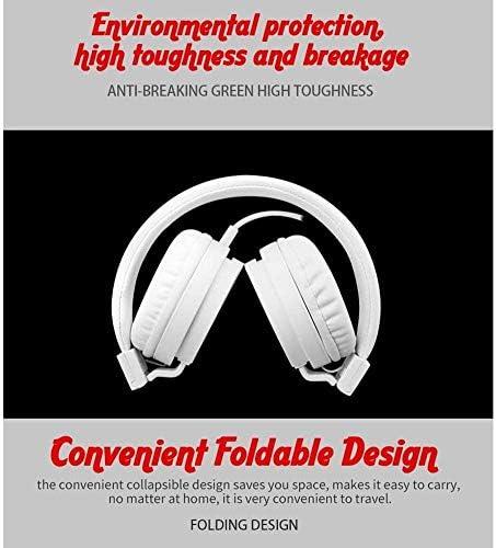 TYGYDLQ ワイヤレスヘッドフォン、ヘッドフォン、ヘッドフォン接続モバイルコンピュータゲーム、音楽、ヘッドホン、ノイズキャンセリングヘッドホンを折りたたみ - TV/コンピュータ/携帯電話用 (Color : F)