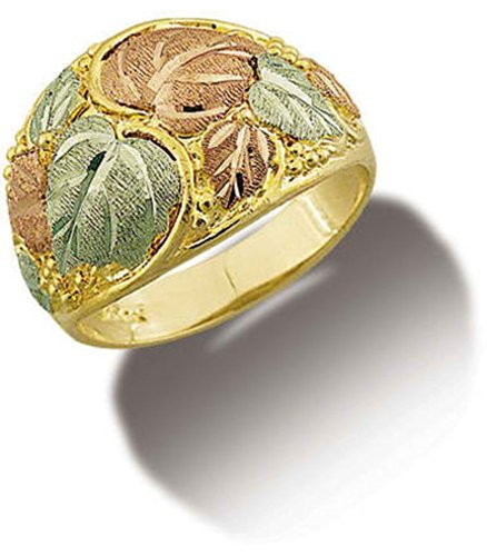 - Landstroms Men's 10k Black Hills Gold Ring and Leaves - G LMR249