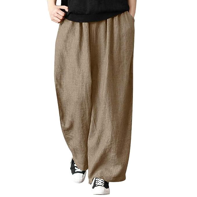 Pantalones Anchos Marlene para Mujer Otoño Invierno 2018 Moda PAOLIAN  Casual Pantalones Lino Cintura Alta Suelto Fiesta Palazzo Pantalones  Acampanados ... 71677f2a4abd