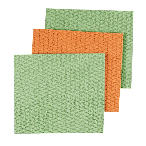 Casabella Sponge Cloths 3 Pack Assorted