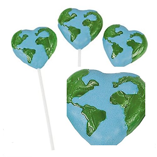 Love The Earth Suckers (Lollipop Love Heart)
