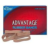 Alliance Rubber 26825 Advantage Rubber Bands Size #82, 1 lb Box Contains Approx. 230 Bands (2 1/2'' x 1/2'', Natural Crepe)