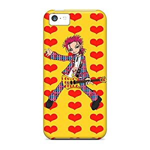 For NadaAlarjane Iphone Protective Case, High Quality For Iphone 5c Hide Yellow Heart Skin Case Cover