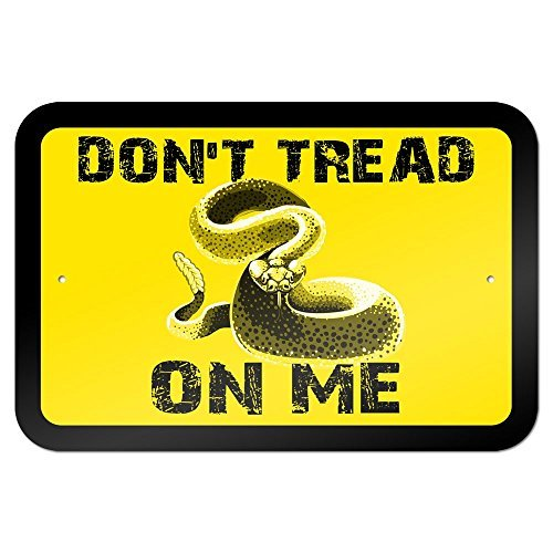 Gadsden Flag Dont Tread On Me 12X18 Inches Metal Sign