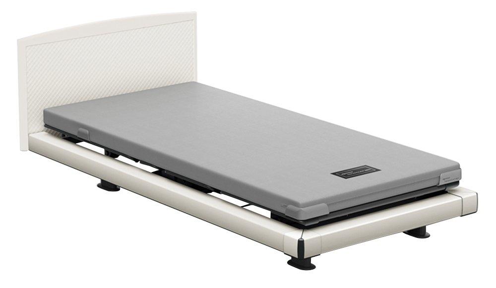 パラマウントベッド 電動ベッド インタイム1000 マットレス付 2モーター ヨーロピアン フットボードあり (ホワイト) RQ-1234WE+RM-E581A 【4梱包】 B076DGQZSK 抽象柄(ホワイト)|ヨーロピアン フットボードあり (ホワイト) 抽象柄(ホワイト)