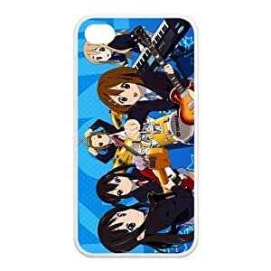 Gdragonhighfive Cell Phone Case Cover K-On Chibi Girl Band Hard Shell Case for Iphone 4/4s (TPU)