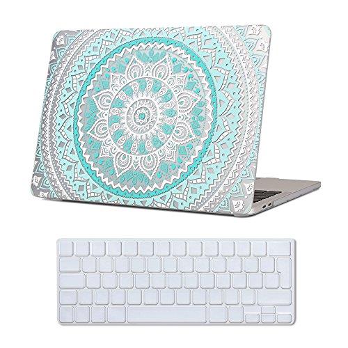 MacBook New Pro 13 Retina Case Blue , iCasso Medallion Pattern Ultra Slim...