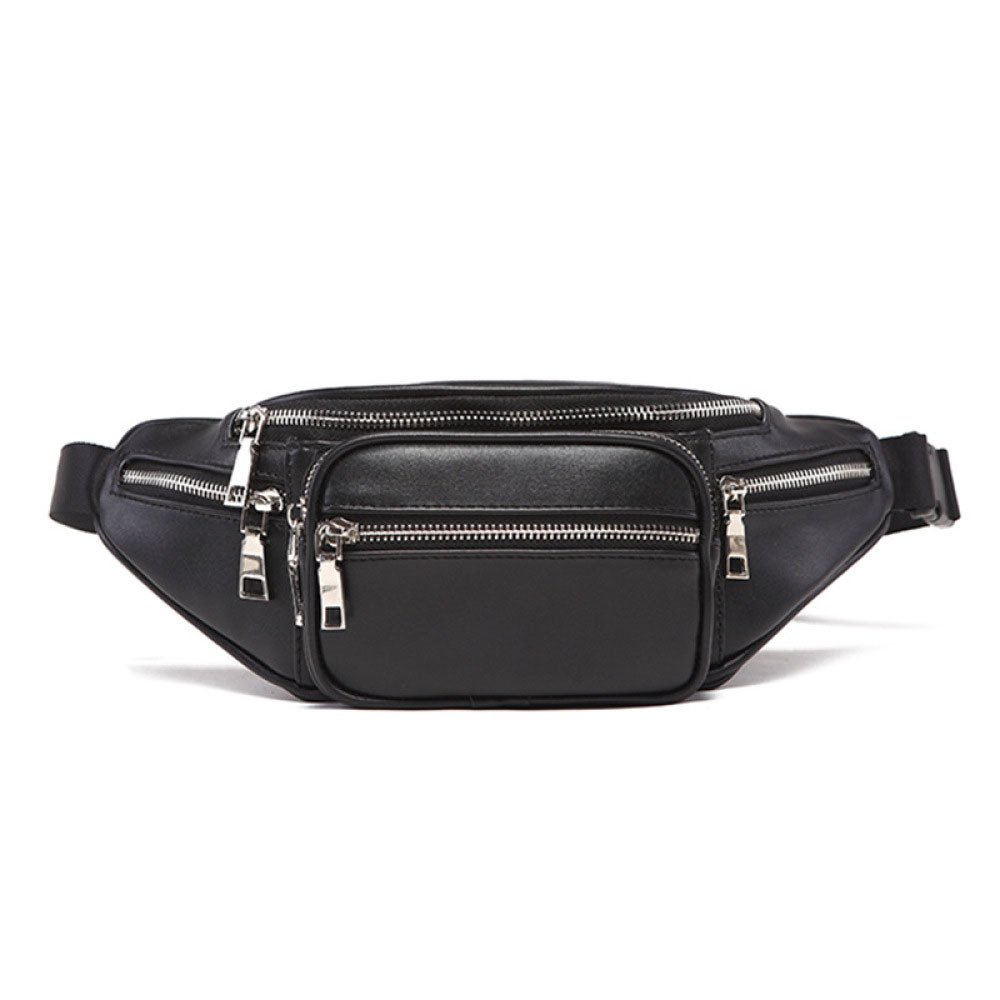 Sophisticated Women's Pockets Chest Bags Men's Sports & Leisure Pockets,Black