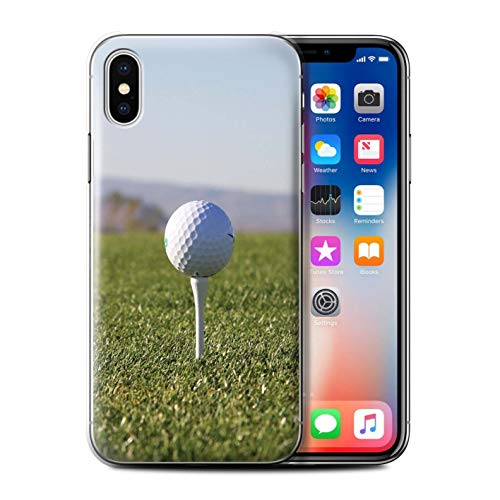 (STUFF4 Phone Case/Cover for Apple iPhone X/10 / Tee Up Design/Golf Sports Fan Collection)