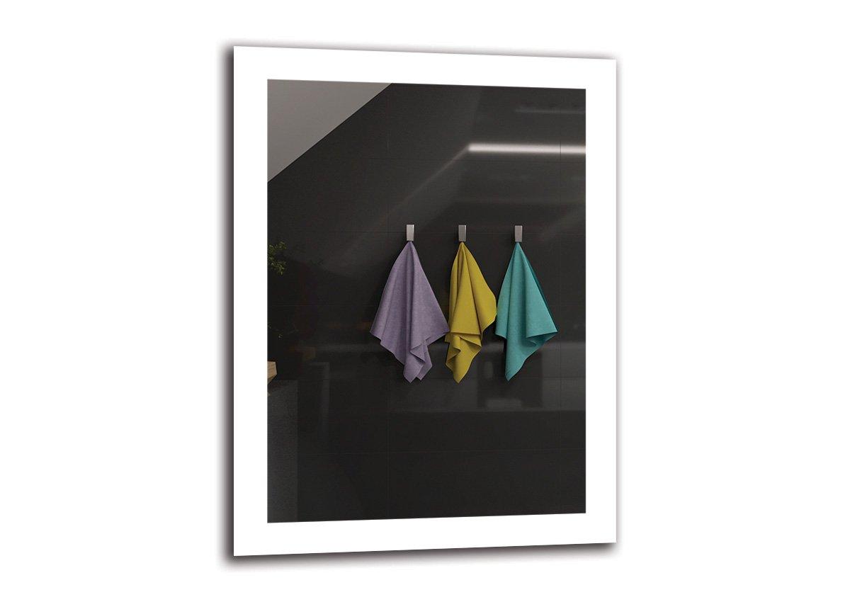 LED Spiegel Premium - Spiegelmaßen 60x80 cm - Badspiegel mit LED Beleuchtung - Wandspiegel - Lichtspiegel - Fertig zum Aufhängen - ARTTOR M1ZP-50-60x80 - Lichtfarbe Weiß kalt 6500K - ARTTOR