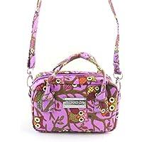 AutumnFall Women Fashion Handbag Owl Pattern Shoulder Bag Large Tote Ladies Purse (Purple)