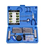 AUTOWN Tire Repair Kit - 67pcs Heavy Duty Tire Repair Tools & Tire Repair Set for Car, Motorcycle, Truck, ATV, Tractor, RV, SUV, Jeep, Trailer, Lawn Mower - 100% Life Time Guarantee