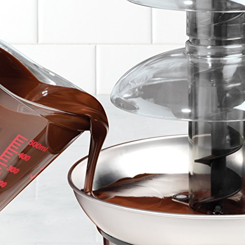 082677139863 - Nostalgia CFF986 4-Tier 2-Pound Capacity Stainless Steel Chocolate Fondue Fountain carousel main 4
