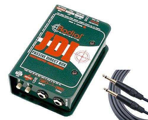 Radial JDI Passive Guitar/Bass/Keyboard Direct Box w/ Jensen + Mogami TS Cable by Radial