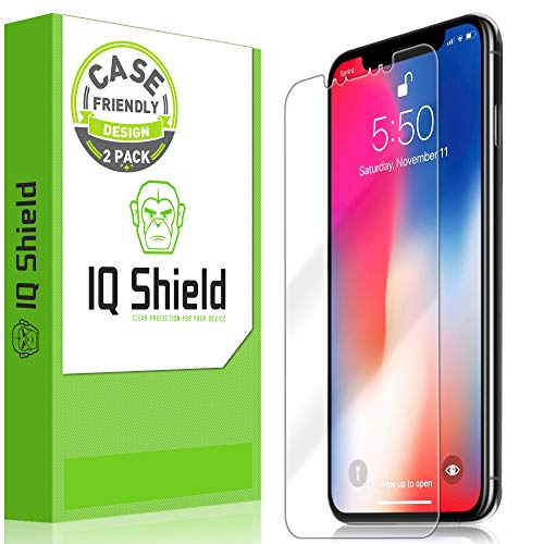 Apple iPhone Xs Max Screen Protector (Case Friendly)(2-Pack), IQ Shield LiQuidSkin Full Coverage Screen Protector for Apple iPhone Xs Max (6.5) HD Clear Anti-Bubble Film