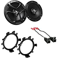 JVC Pair of 6.5 2-Way Coaxial Car Speakers w/Harness and Speaker Adapter
