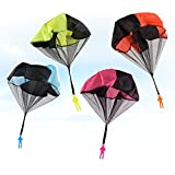 XYTMY 4 Pack Set Tangle Throwing Parachute, Hand Throw Soldiers Parachute, Outdoor Children's Flying Toys for Fun