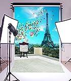 Laeacco 3x5ft Vinyl Photography Backdrop Romantic Paris Eiffel Tower Scenery 1*1.5m Background Studio Props