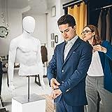 Giantex Male Mannequin Torso Adjustable Height