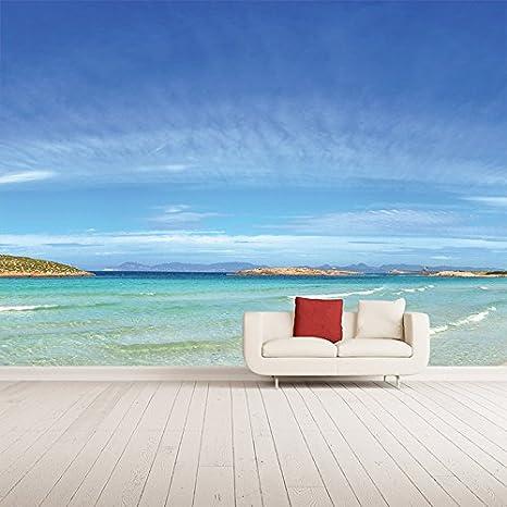 azutura Spiaggia Murale Isola di Formentera Foto Sfondo Camera da ...