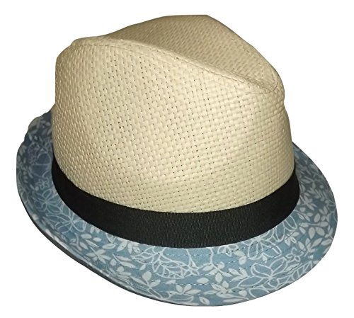 9e185de3187bf Daniel Cremieux Men s Straw Fedora Hat Natural with Grey Band Large XL