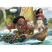 Ravensburger Disney Moana One Ocean One Heart Puzzle de 100 piezas para niños: cada pieza es única, las piezas encajan perfectamente