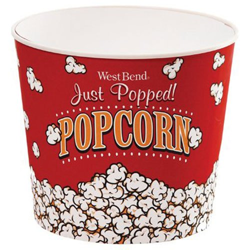 West Bend PC10636 Reusable Theater Popcorn Bucket Dishwasher-Safe, 7-Quart