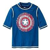 #5: DisneyParks Marvel Captain America Shield Rash Guard Boys Navy Blue
