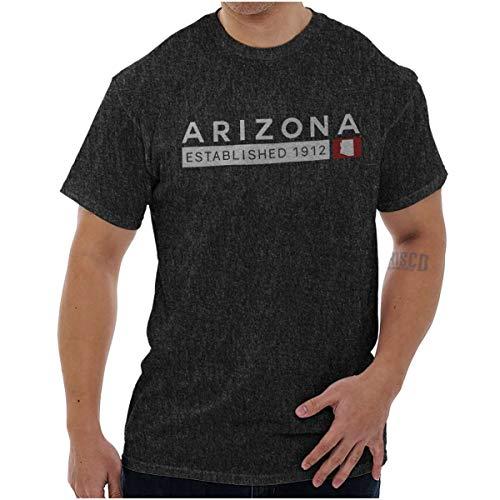 Classic Arizona Original State Souvenir AZ T Shirt Tee Dark Heather (Classic Diamondbacks Shirt Arizona)